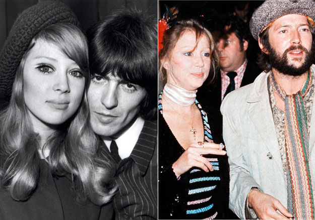 Harrison With Pattie Boyd